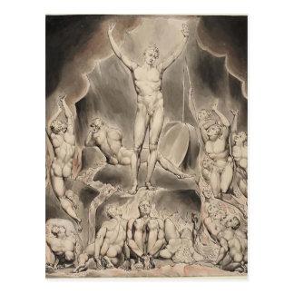 William Blake Milton`s Paradise Lost Post Card