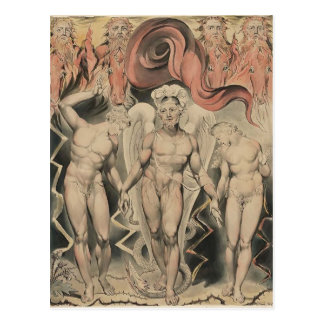 William Blake Milton`s Paradise Lost Postcard