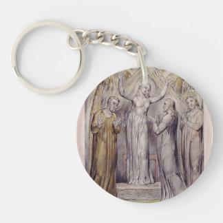 William Blake: Milton`s Paradise Regained Single-Sided Round Acrylic Keychain