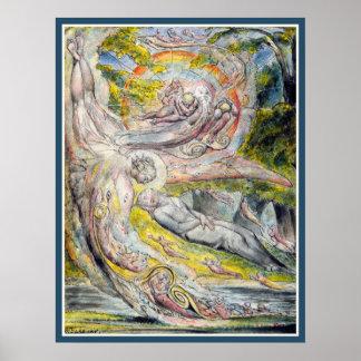 William Blake:  Milton's Mysterious Dream Posters
