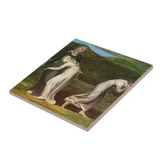 William Blake: Naomi entreating Ruth and Orpah Tiles