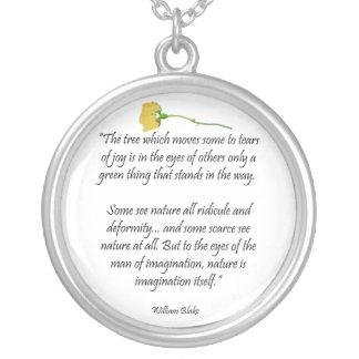 William Blake Poem Pendant