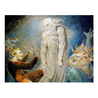 William Blake Postcard:  Job and His Family