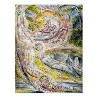 William Blake Postcard Mysterious Dream
