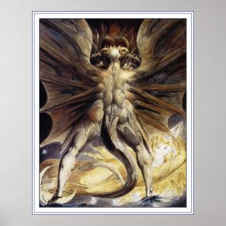 William Blake Poster Print: Great Red Dragon