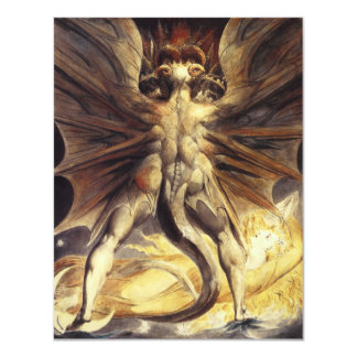 William Blake Red Dragon Invitations