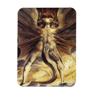 William Blake Red Dragon Magnet
