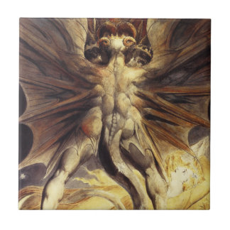 William Blake Red Dragon Tile