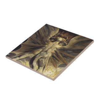 William Blake- Red Dragon & Woman Clothed with Sun Ceramic Tiles