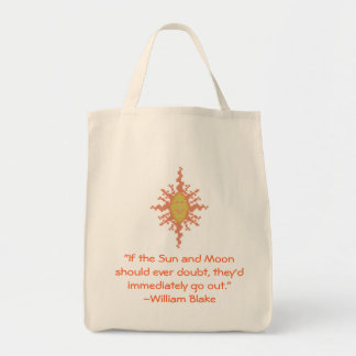 William Blake Sun and Moon Quote Bag