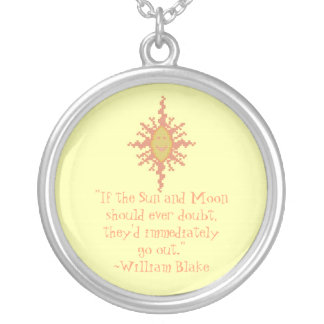 William Blake Sun & Moon Confidence Quote Necklace