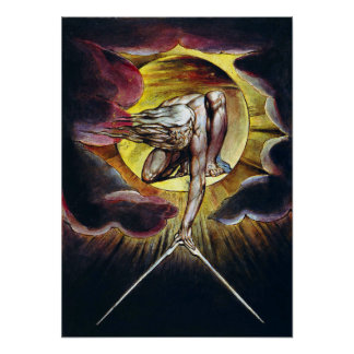 William Blake The Ancient of Days Painting Poster