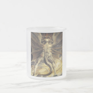 William Blake - The Great Red Dragon and the Woman Frosted Glass Coffee Mug