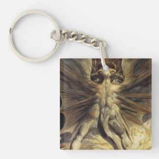 William Blake - The Great Red Dragon and the Woman Keychain