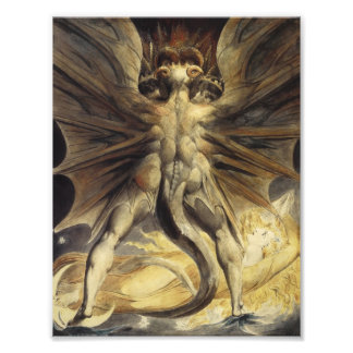 William Blake - The Great Red Dragon and the Woman Art Photo