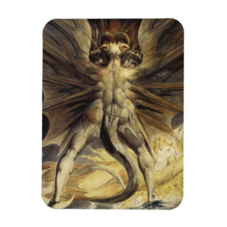 William Blake - The Great Red Dragon and the Woman Rectangular Photo Magnet