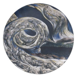 William Blake The Lovers Whirlwind Plate