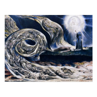 William Blake The Lovers Whirlwind Postcard