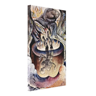 William Blake - The Pope Simonian Canvas Print