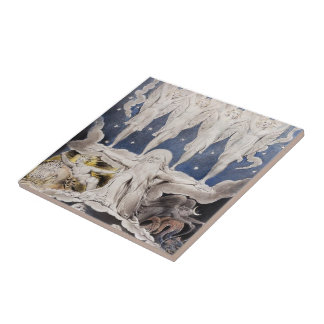 William Blake-When the Morning Stars Sang Together Ceramic Tiles