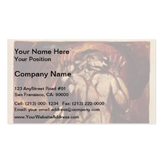 William Blake-white haired man in long, pale robe Business Cards