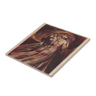 William Blake-white haired man in long, pale robe Tiles