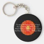 """William Blake """"World in a Grain of Sand"""" quote Basic Round Button Keychain"""