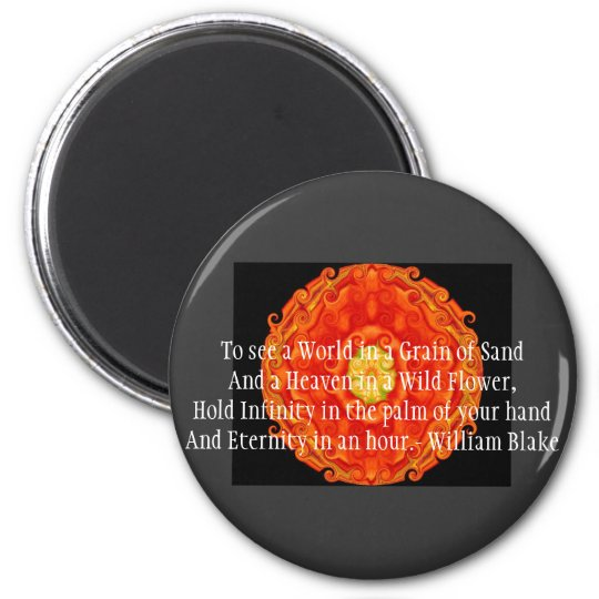 """William Blake """"World in a Grain of Sand"""" quote Magnet"""