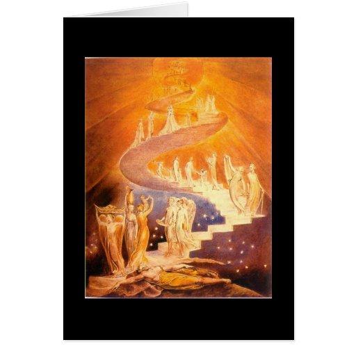 William Blake's Jacob's Ladder Greeting Card