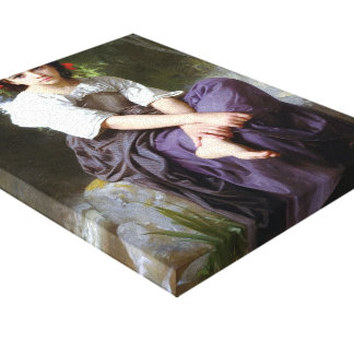 William Bouguereau- At the Edge of the Brook Canvas Print