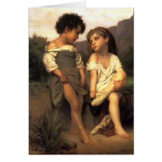 William Bouguereau- At the Edge of the Brook Card