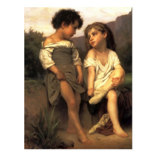 William Bouguereau- At the Edge of the Brook Postcard