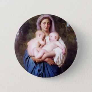 William Bouguereau_Charity(1878) Pinback Button