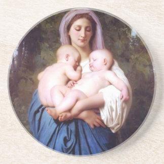 William Bouguereau_Charity(1878) Sandstone Coaster