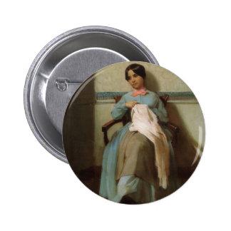 William Bouguereau- Portrait of Léonie Bouguereau Pinback Button