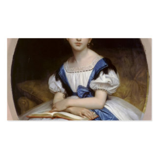 William Bouguereau- Portrait of Mlle Brissac Business Card