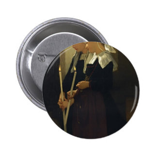 William Bouguereau- Prayer at Sainte Anne d'Auray Pinback Button