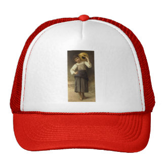 William Bouguereau- The Water Girl Mesh Hat