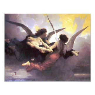 """William Bouquereau 1878 """"Soul Carried to Heaven"""" Photo Print"""