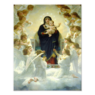 """William Bourguereau """"The Virgin with Angels"""" c1900 Photo Print"""