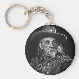 William Buffalo Bill Cody Vintage Portrait Keychain