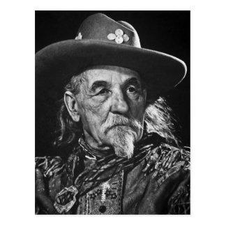 William Buffalo Bill Cody Vintage Portrait Postcard