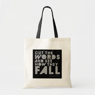 "William Burroughs ""Cut the Words"" Writing Tote Bag"