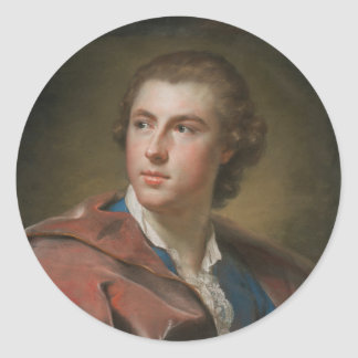 William Burton Conyngham by Anton Raphael Mengs Classic Round Sticker