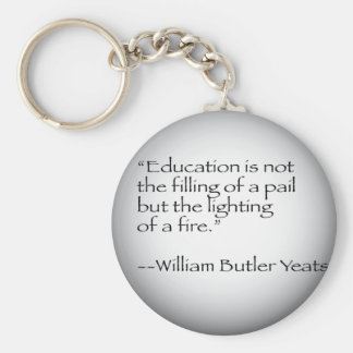 William Butler Yeats Quote Keychain