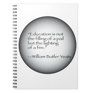 William Butler Yeats Quote Notebook