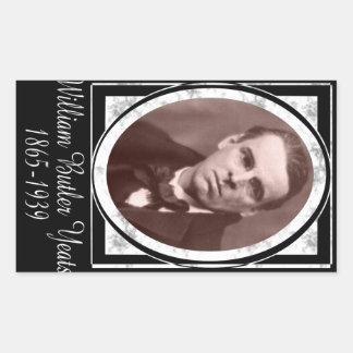 William Butler Yeats Rectangular Sticker