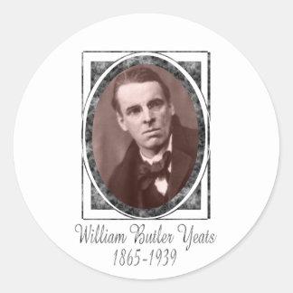 William Butler Yeats Classic Round Sticker
