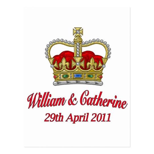 William & Catherine 29th April 2011 Postcard