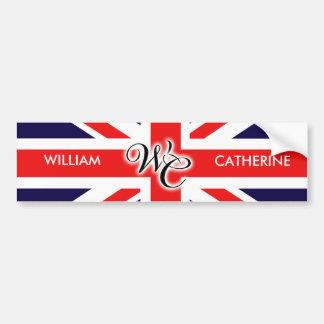 William & Catherine Car Bumper Sticker